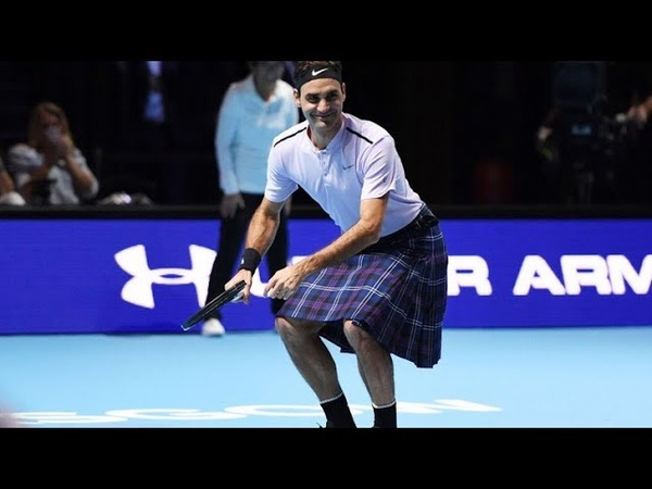 Funny Roger Federer playing in a KILT 50fps HD