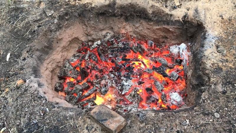 🍯 Обжиг керамики в ЯМЕ Ямный обжиг дровами с восстановлением Гончарная школа Волшебство керамики
