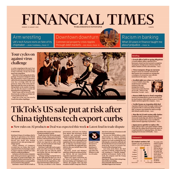 Financial Times Europe - August 31, 2020