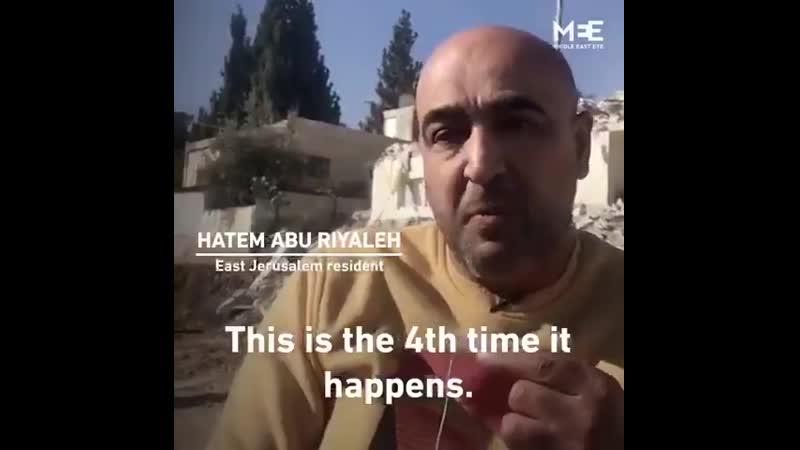 Les terroristes israéliens détruisent les maisons des Palestiniens dans leur propre pays