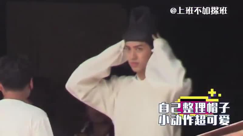 Xu Weizhou and Nazha on the set of datangmingyue - - - - xuweizhou timmyxu 许魏洲 - gulinazha 古力娜扎 大唐明月