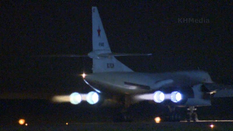 ночной вылет Ту 160 RF 94102 Лии им Громова 2019 аэродром Раменское