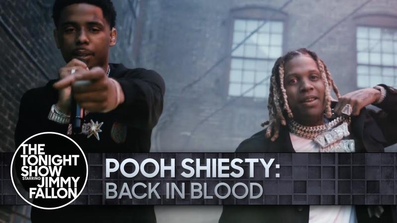 Выступление Pooh Shiesty и Lil Durk с треком Back In Blood на шоу Джимми Фэллона