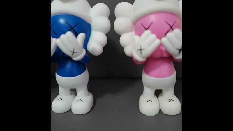 Горячая распродажа 21 см мишки кирпичные фигурки блоки мишки синий розовый желтый эльф пвх куклы коллекционные модели игрушек