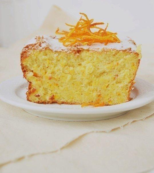 Суперский апельсиновый кекс. Обращаю внимание стройнеющих: в кексе нет ни грамма масла, и продуктов вообще минимум, еще и очень бюджетный вариант:))Кекс получается очень ароматный, солнечный,