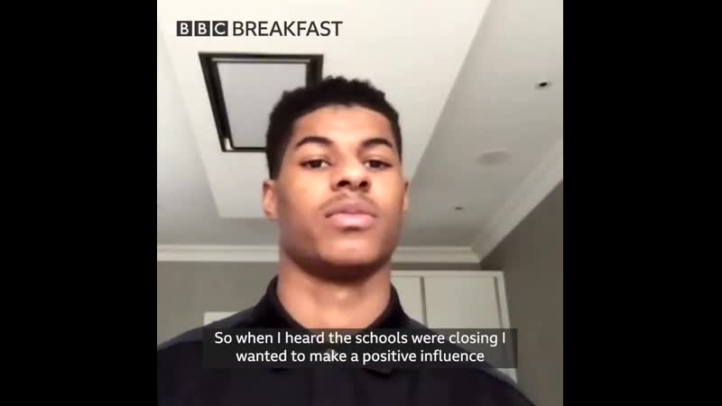 Rashford on BBC Breakfast this morning talking about providing kids with meals whilst schools are shut mulive @BBCBreakfast