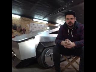 """Парни собрали из """"девятки"""" новый Tesla Cybertruck"""