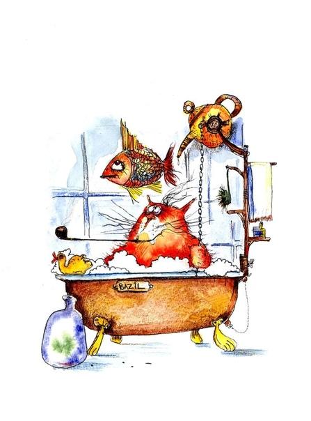 Купание красного кота Тартарен Из Тараскона