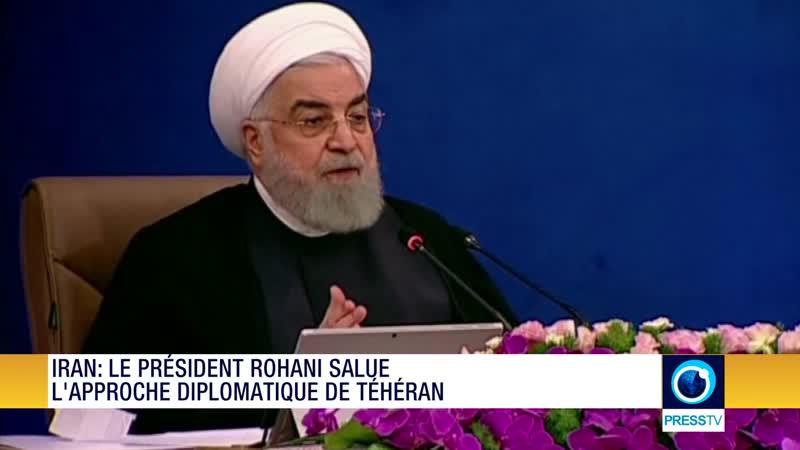 Iran le président Rohani salue l'approche diplomatique de Téhéran
