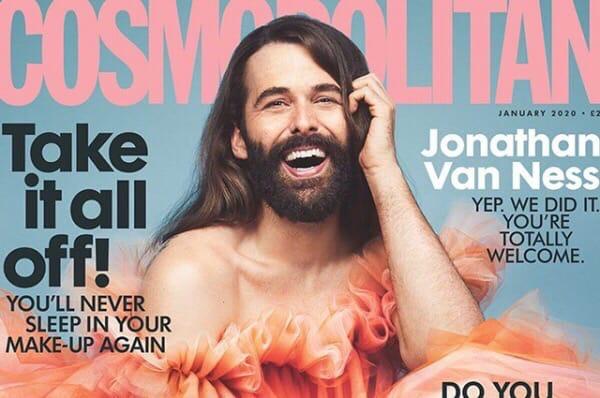 Для январской обложки британского женского журнала Cosmopolitan впервые за 35 лет снялся мужчина Им стал 32-летний телеведущий и участник реалити-шоу Queer Eye Джонатан ван Несс. Он в открытую