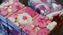 Making Japanese Cherry Blossom Soap 🌸 Piping Cherry Blossoms
