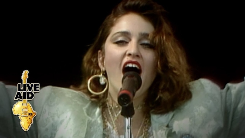 Madonna Holiday Live Aid 1985
