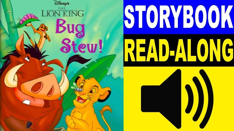 The Lion King Read Along Storybook, Read Aloud Story Books, The Lion King - Bug Stew!
