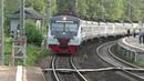 Электропоезд ЭД4М 0463 ЦППК пролетает платформу Санаторная