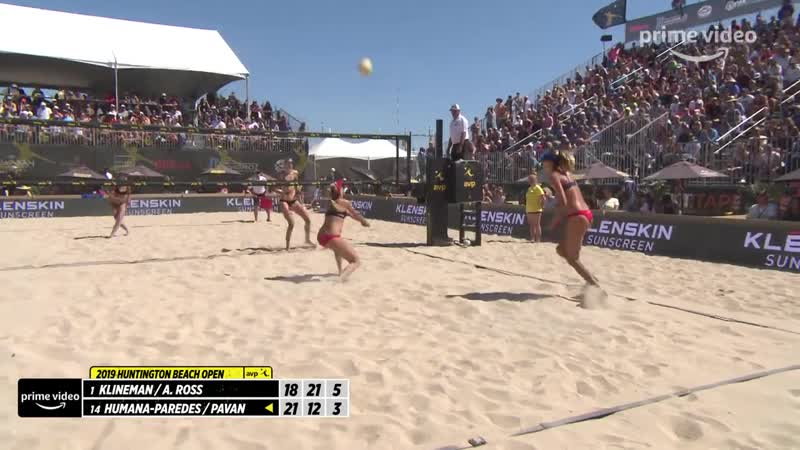 Sarah Pavan Layout and Swing Against the A Team AVP Huntington Beach Open 2019