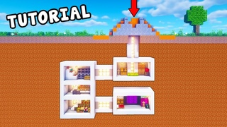 Minecraft Tutorial How To Make A Volcano Hidden Base Hidden Lava Base