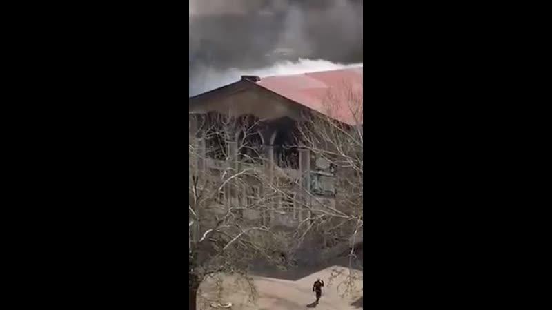 Пожар на жд в Славянске - 26.04.2020