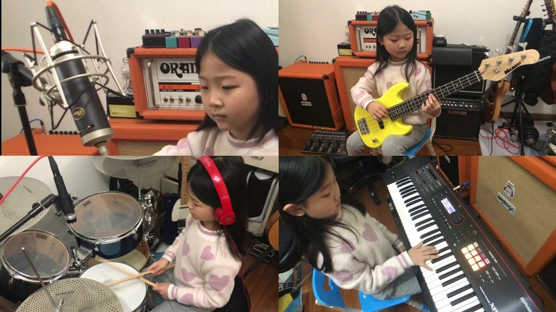 [ Flowers ] One girl completes a band | 6 years old learning achievement exhibition | 那些花儿 一个人的乐队