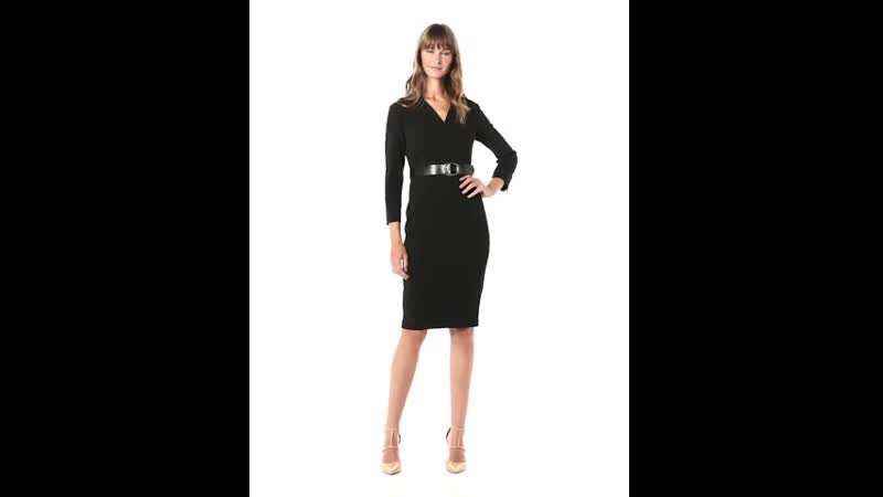 Calvin Klein Womens Belted Sheath with Collar Neckline - Kallyz Brand online Shopping