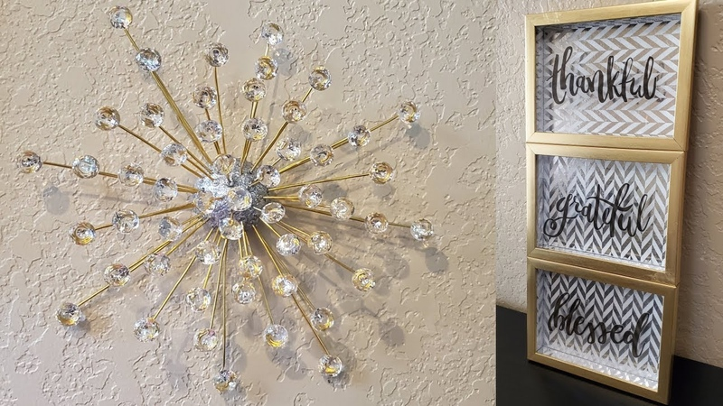 2 Quick and Easy Dollar Tree DIY's Dollar Tree DIY Gold and Silver Wall Decor Ideas