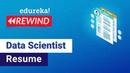 Data Scientist Jobs, Salary Skills Data Scientist Resume Data Science Edureka Rewind - 3
