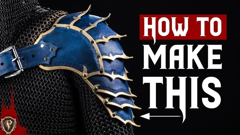 ⚔️ HOW TO MAKE ARMOR FANTASY SPAULDERS 🛡️ Leather Shoulder Cosplay Armour Pauldrons DIY