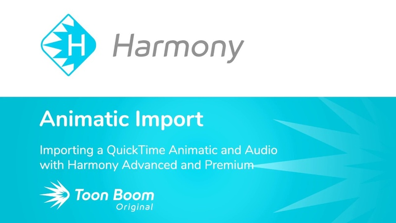 How to Import a QuickTime Animatic and Audio with Harmony Advanced and Premium