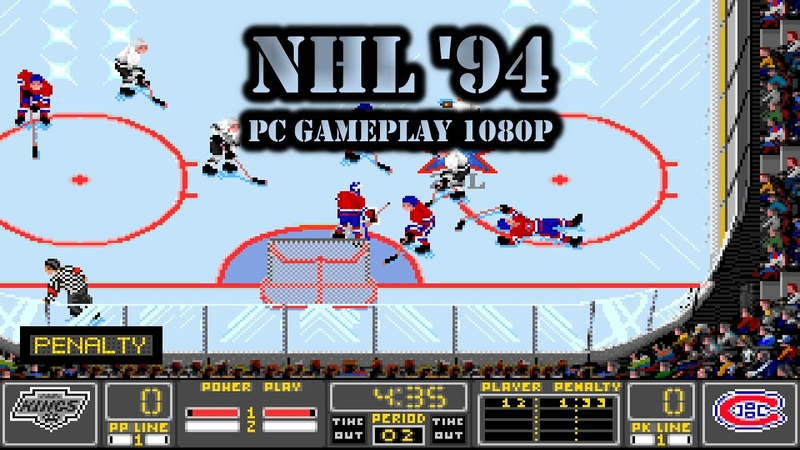 Old Games NHL 94 NHL Hockey DOS 29 LA Kings League PC 4K