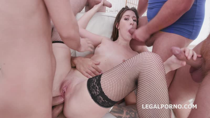 Monster of DAP Alessandra Amore 5on1 DAP TP with Balls Deep Anal, DAP, TP, ATM, Gapes, Creampie Swallow