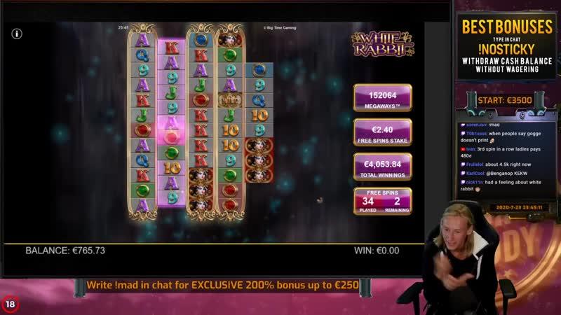 Casino Sarayi - MEGA WIN! WHITE RABBIT MEGAWAYS BIG WIN - Casino Slot from Casinodaddy LIVE STREAM