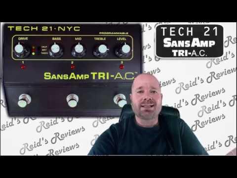 3 IN 1 TECH 21 SansAmp TRI A C Guitar Pedal Tube Amp Emulator Overdrive Distortion Reid's Reviews
