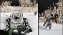 Eiseinbruch T-34 Panzer Winter Diorama scale 1:35 Ice break-in T-34 Tank Diorama scale 1:35