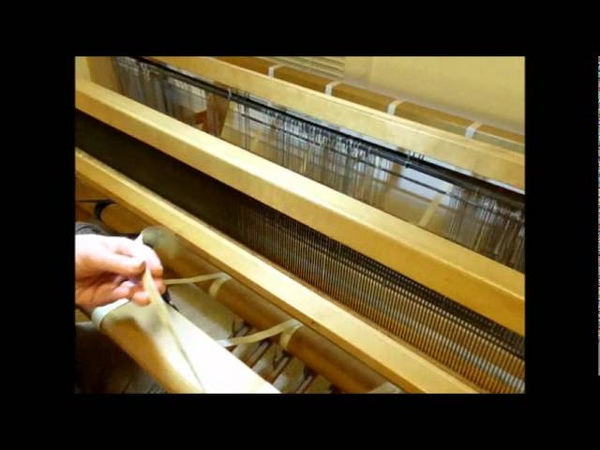 How to Weave on a Loom - Video 7 - Sleying a reed on a loom Part 1