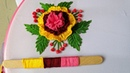 Amazing Hand Embroidery Flower design trick with ice cream stick 3d Hand Embroidery Flower design