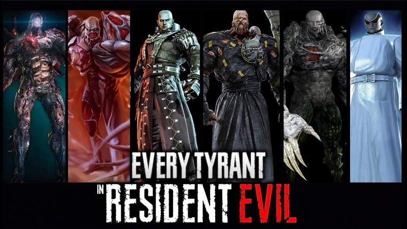 ALL TYPES EVOLUTION OF TYRANTS in RESIDENT EVIL Complete Series 1996 2020 BOSS BATTLE GAMEPLAY