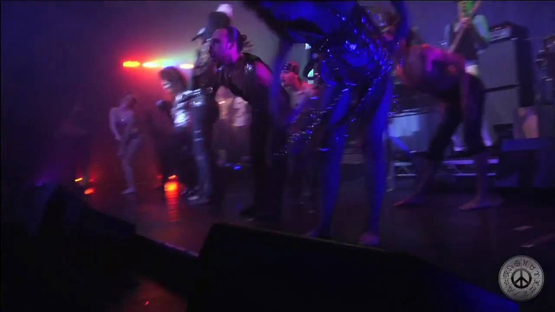 Adam Lambert in Black Dog Performance at Zodiac Show