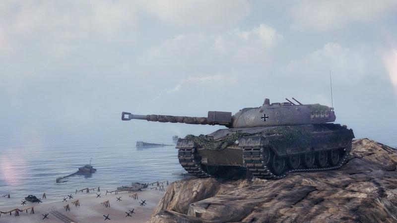1 vs 4 на КПЗ. Kampfpanzer 50 t Эль-Халлуф – Встречный бой