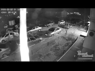 В Батайске вандалы испортили машину  Ростов-на-Дону Главный