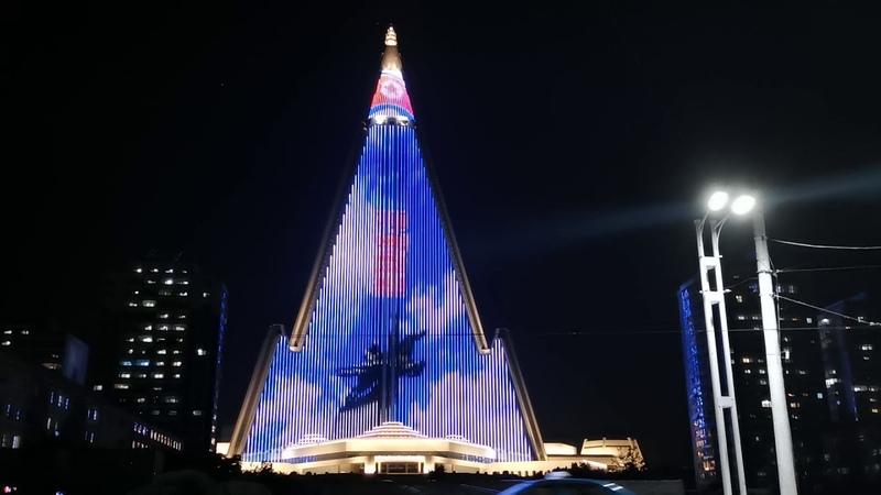 RYUGYONG HOTEL Pyongyang Light Show 2020