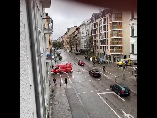 München Liebe Mitbürgerinnen u Mitbürger Bleiben Sie zu Hause Zuwiderhandlungen werden hartbestrafft