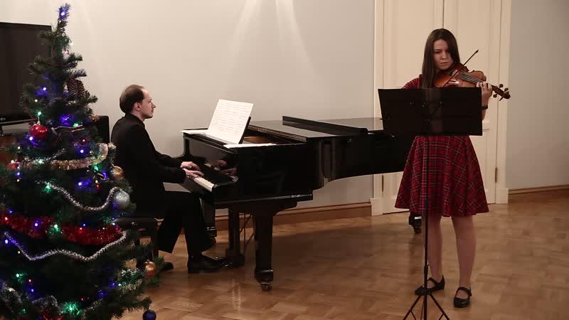 Елена Дружкина - Соната для скрипки и фортепиано соль-минор No.10 1-ая и 2-ая части (Г.Ф. Гендель)