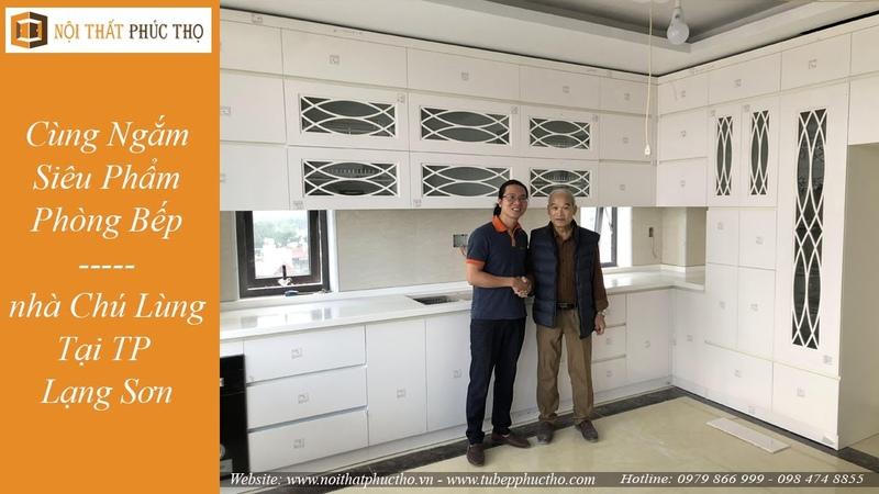 Cùng Ngắm Nhìn Siêu Phẩm Phòng Bếp Acylic Bóng Gương An Cườn Nhà Chú Lùng - TP lạng SơnTủ Bếp