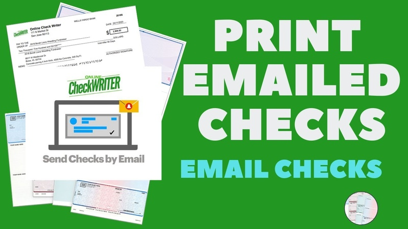 How do I print an emailed check in 2 Steps - Email Checks!
