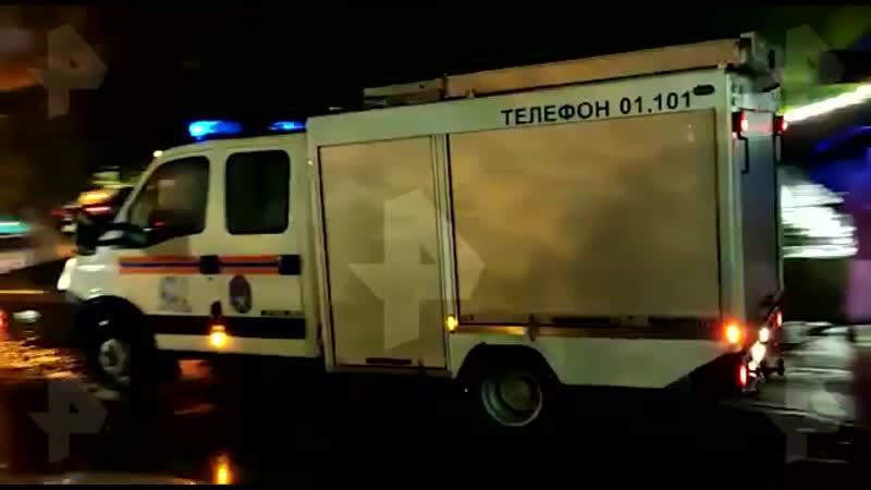 Видео с места взрыва баллона с хлором у НМИЦ им Приорова