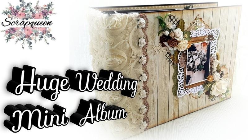 Beautiful Huge Interactive Wedding Mini Album 12x8 5inch