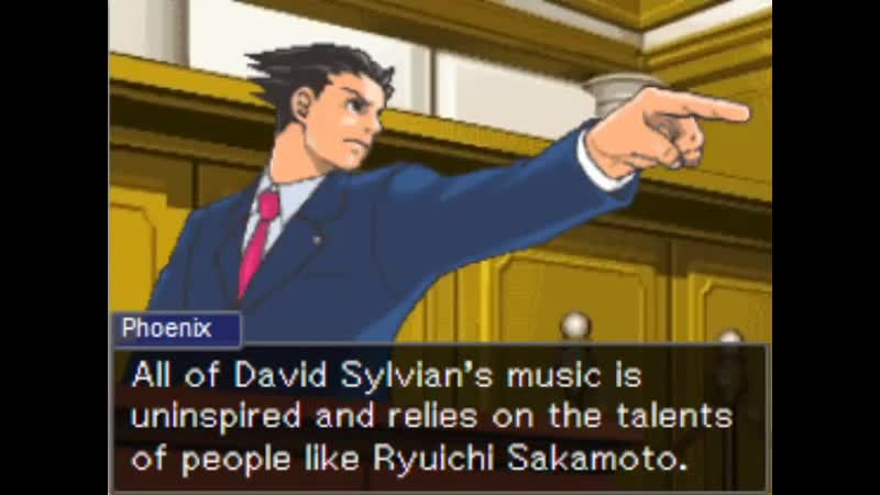 MILES EDGEWORTH STANS DAVID SYLVIAN.