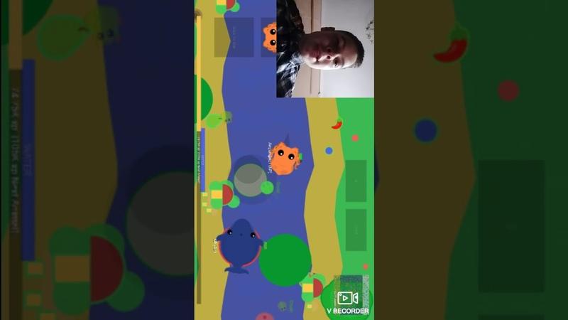 Играю в mope.io с веб камерой