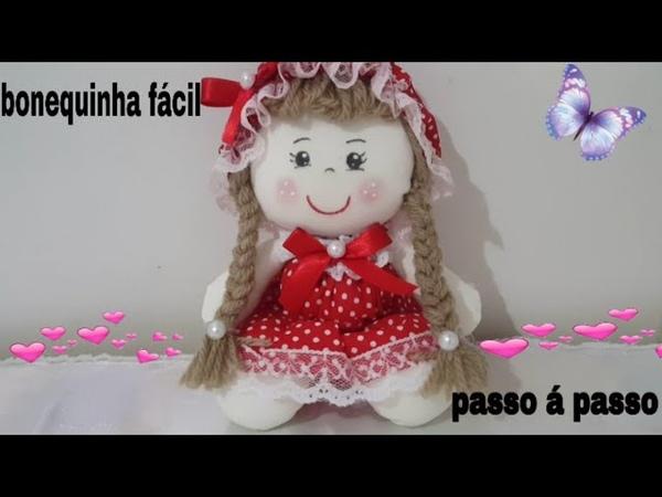 Como fazer uma linda boneca fuxico, super fácil com Cris Pinheiro