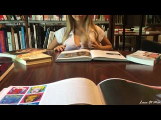 LucaXMia  Risky Public Sex At The French High School Library - Amateur