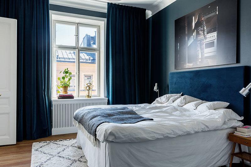 Контрастные цвета и огромные картины: красивая квартира в Стокгольме || 01